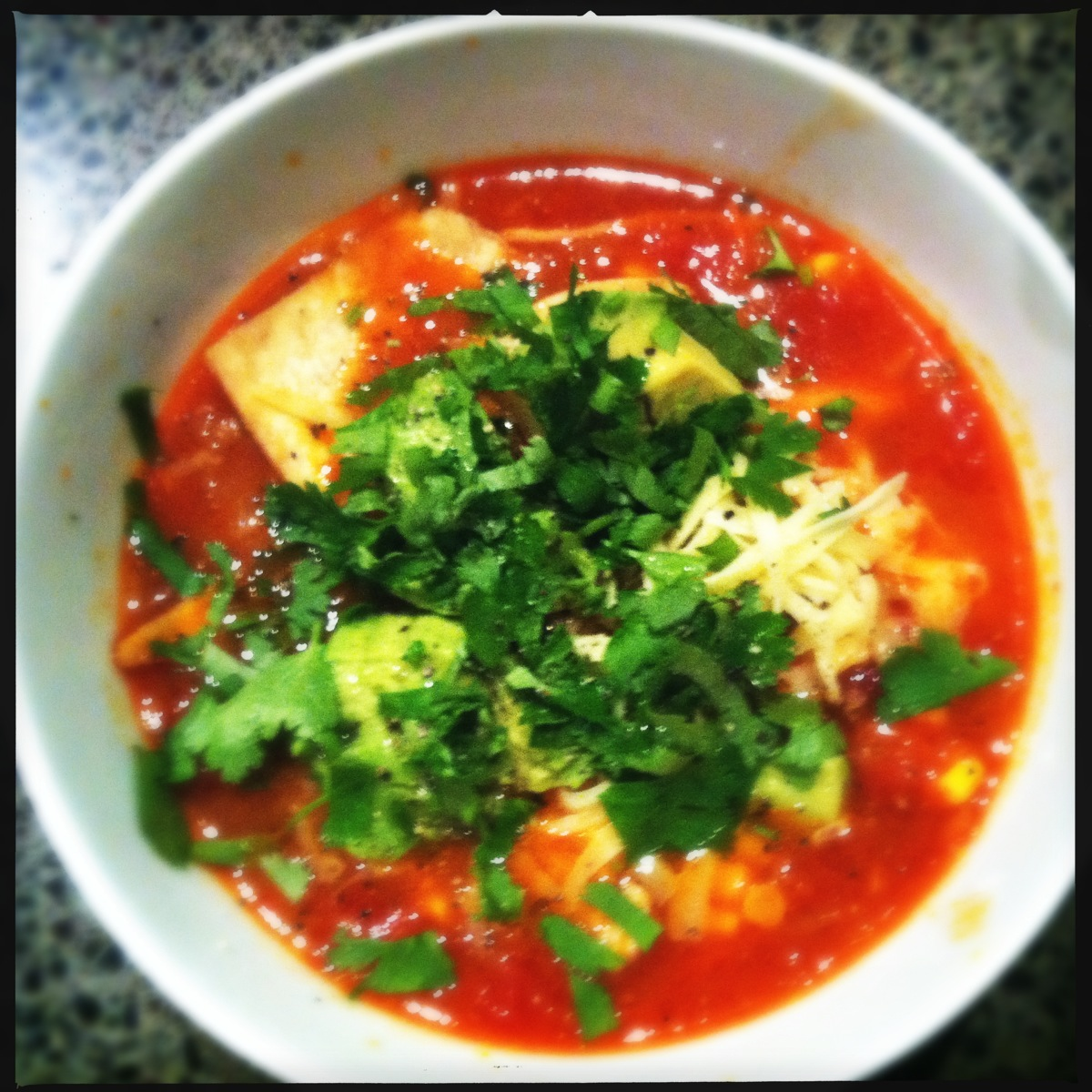 Phillipe's Mexican tortilla soup | we will not go hungry